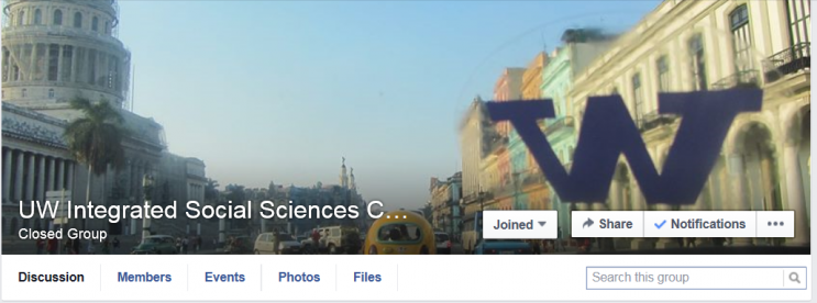 Image of the ISS Facebook Group page