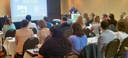 Mel presenting at NACADA Region 8 Conference